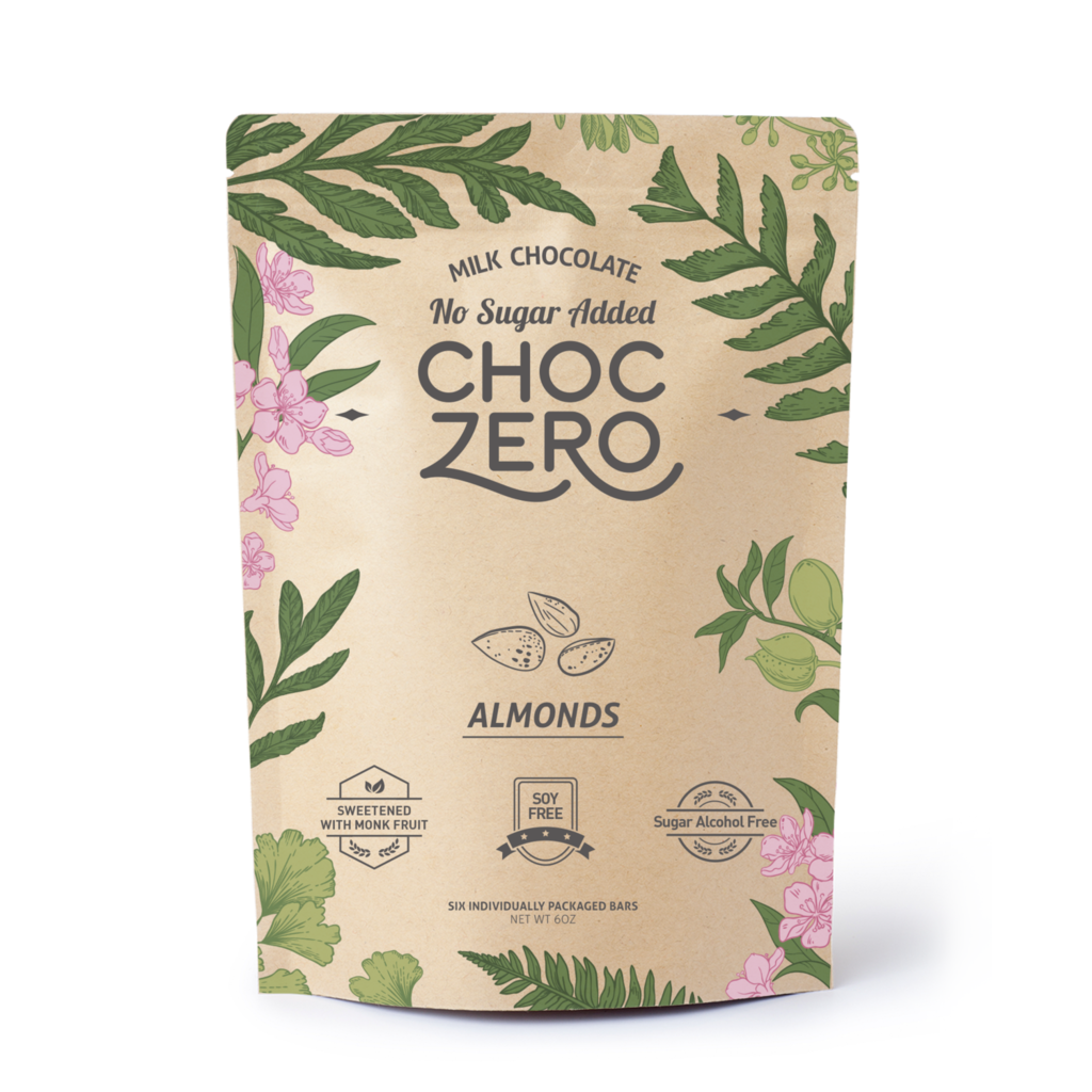 ChocZero Keto Bark, Milk Chocolate with Almonds