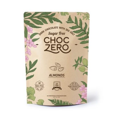ChocZero Keto Bark, Dark Chocolate with Almonds