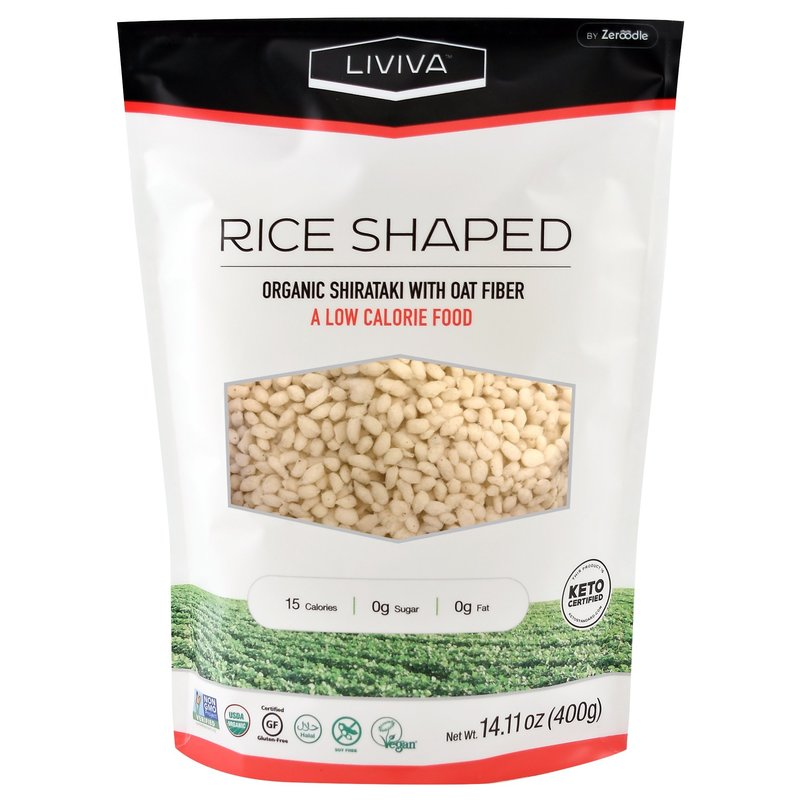 Liviva Liviva Organic Rice Shaped Shirataki with Oat Fibre 400g
