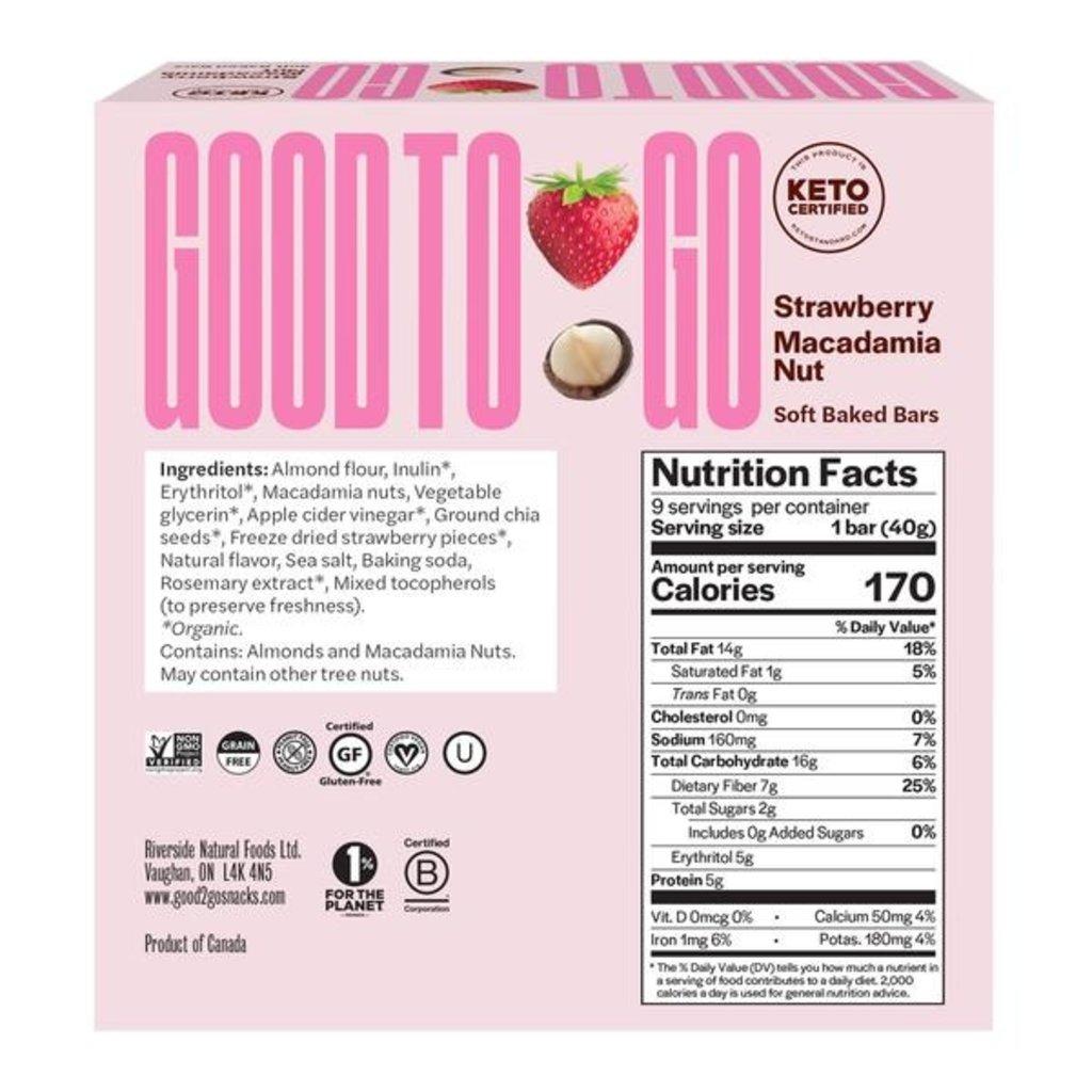 Good to Go Keto Bar - Strawberry Macadamia
