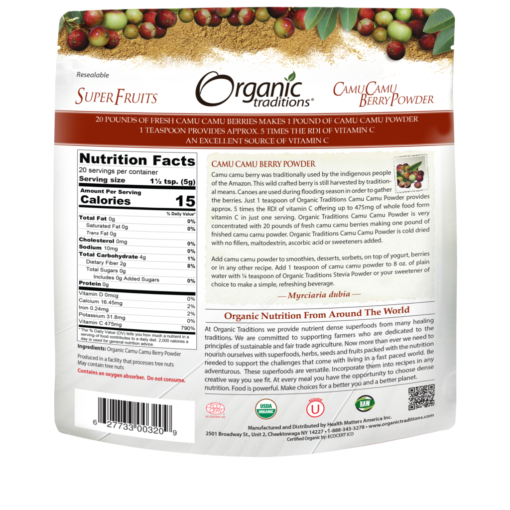 Organic Traditions Organic Traditions Camu Camu Berry Powder (100 g)