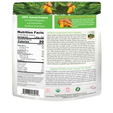 Organic Traditions Organic Traditions Green Powders with Turmeric (100 g)