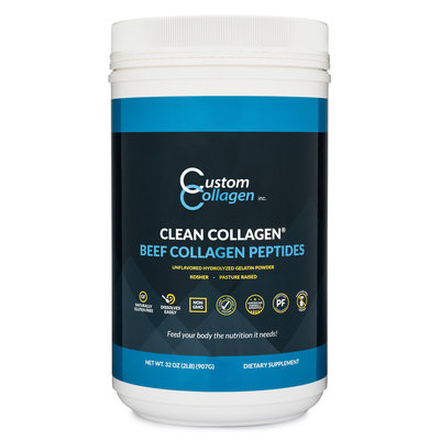 Custom Collagen Custom Collagen - 2 lb. Hydrolyzed Gelatin | Beef Collagen Peptides