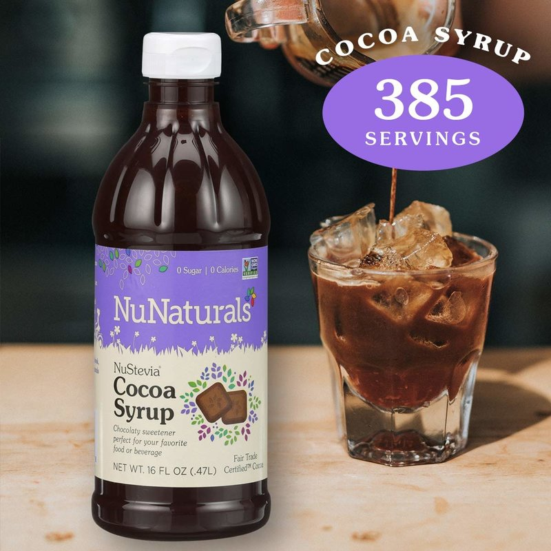 NuNaturals NuStevia Cocoa Syrup Concentrated, 16 oz.