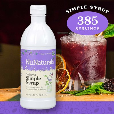 NuNaturals NuStevia Simple Syrup Concentrated, 16 oz.