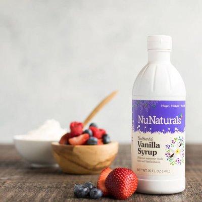 NuNaturals NuStevia Vanilla Syrup Concentrated, 16 oz.