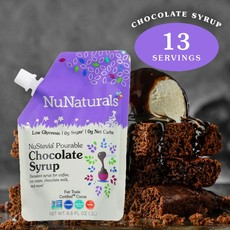 NuNaturals NuStevia Chocolate Syrup Pourable Pouch, 6.6 oz.