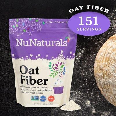 NuNaturals NuNaturals Oat Fiber, 1 lb.