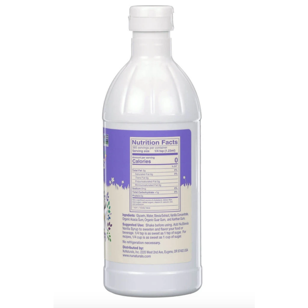 NuNaturals NuStevia Vanilla Syrup Concentrated, 16 oz.