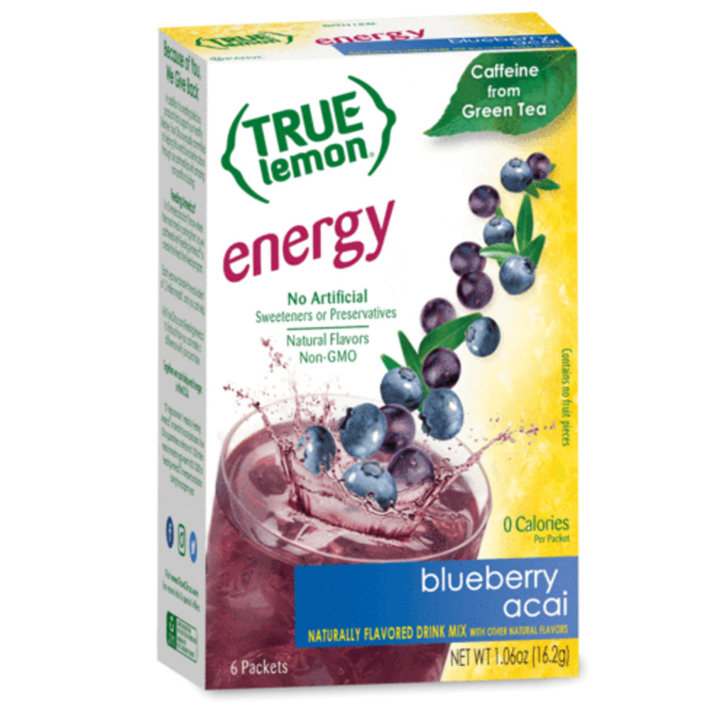 True Citrus True Lemon Energy Blueberry Acai (6-count)