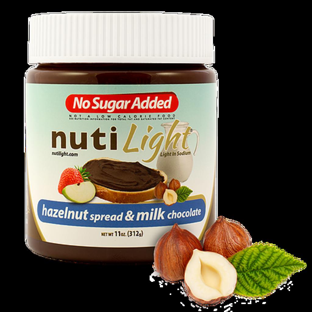 NutiLight - Milk Chocolate Hazelnut Spread (312 g)