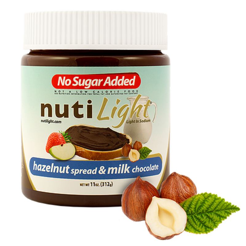 NutiLight - Milk Chocolate Hazelnut Spread (312 g)