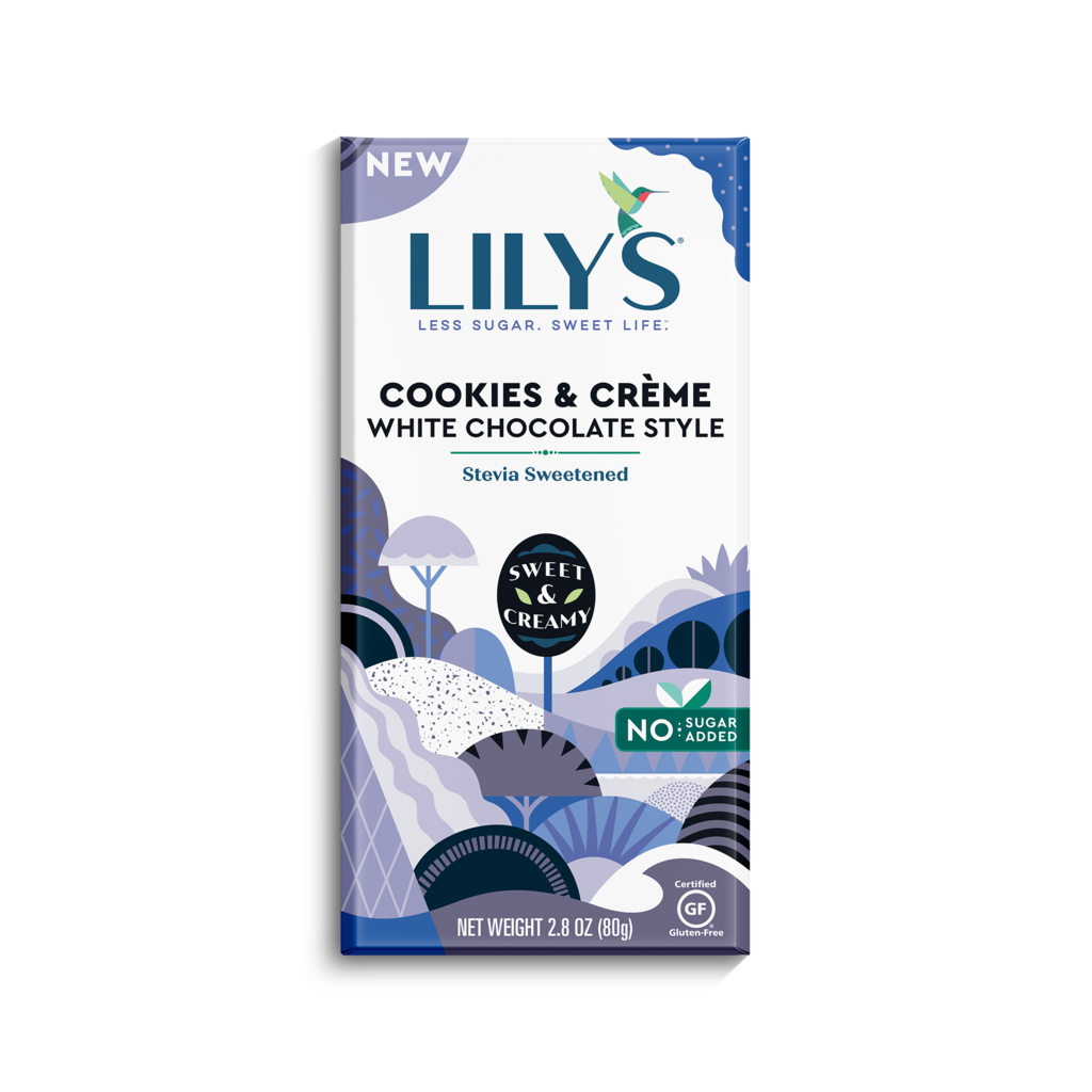 Lily's Sweets Lily's Cookies and Creme Chocolate Bar