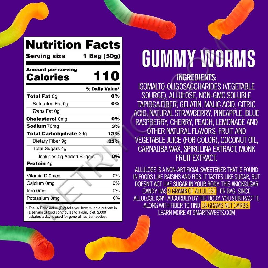 SmartSweets SmartSweets Gummy Worms