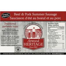 Atwood Heritage Original Summer Sausage - 1 lb