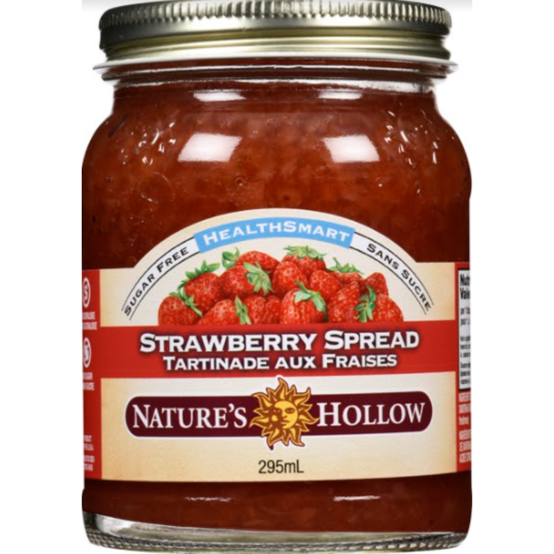 Nature's Hollow Strawberry Sugar-Free Jam Preserves - 10 oz. (280 g)