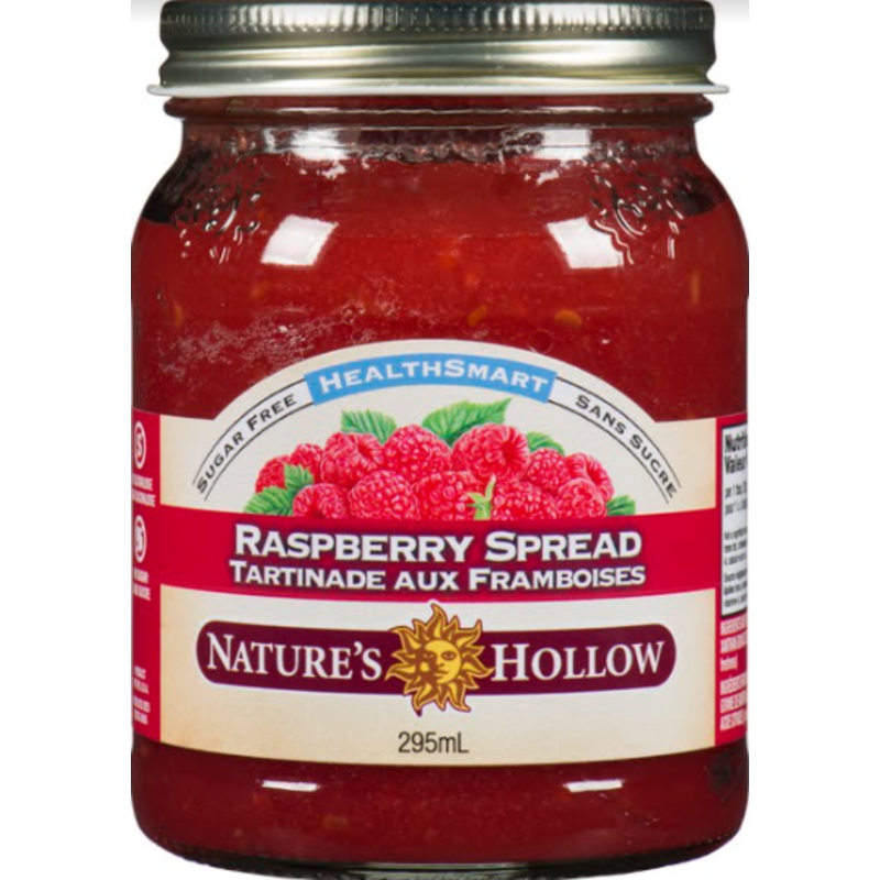 Nature's Hollow Raspberry Sugar-Free Jam Preserves - 10 oz. (280 g)