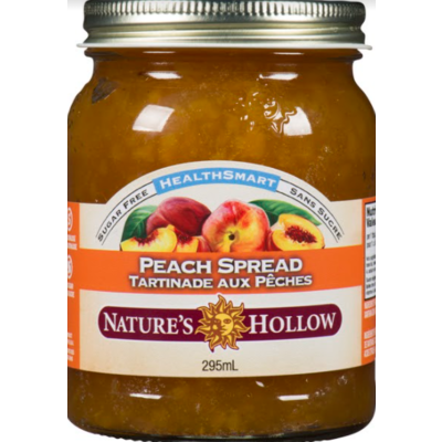 Nature's Hollow Peach Sugar-Free Jam Preserves - 10 oz. (280 g)