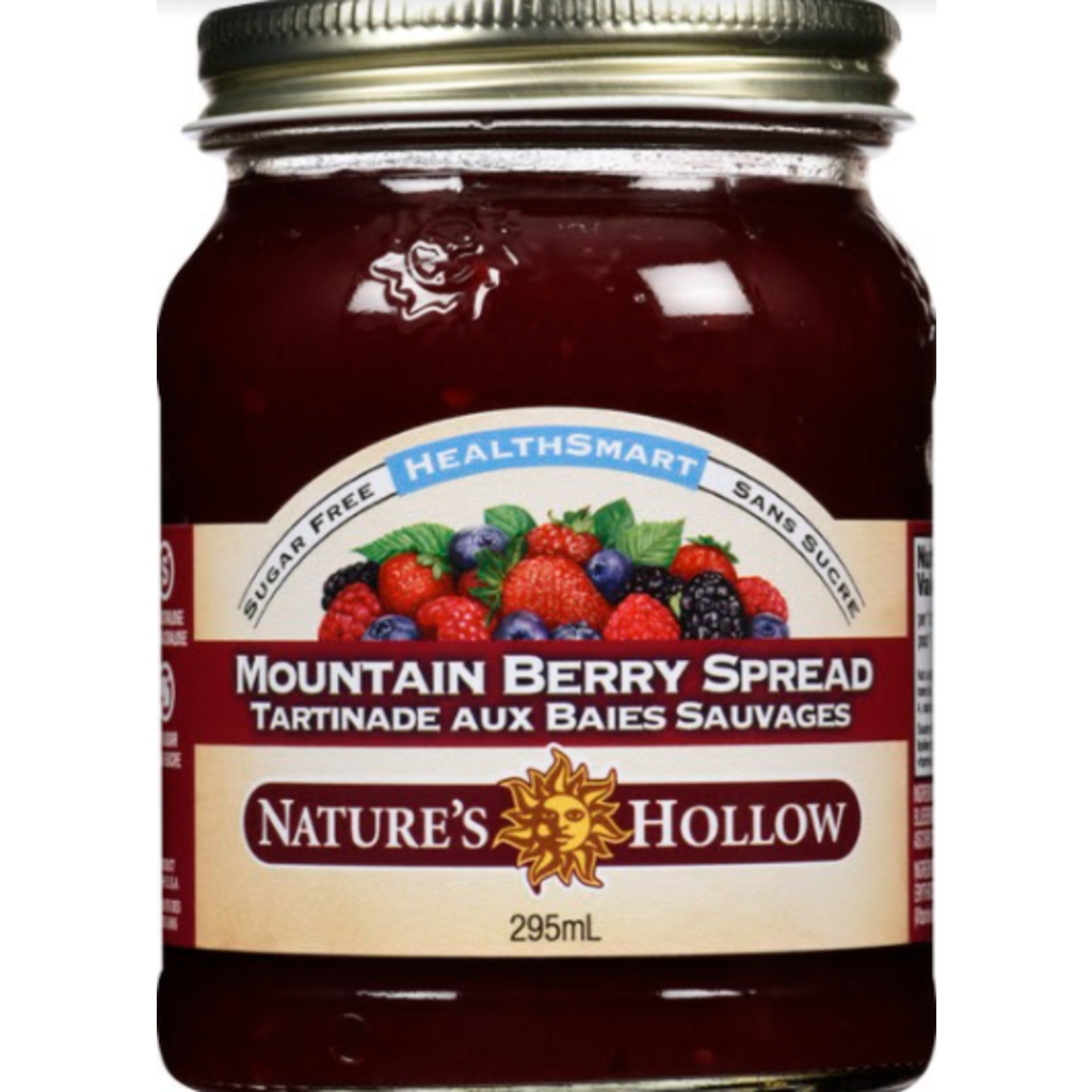 Nature's Hollow Mountain Berry Sugar-Free Jam Preserves - 10 oz. (280 g)