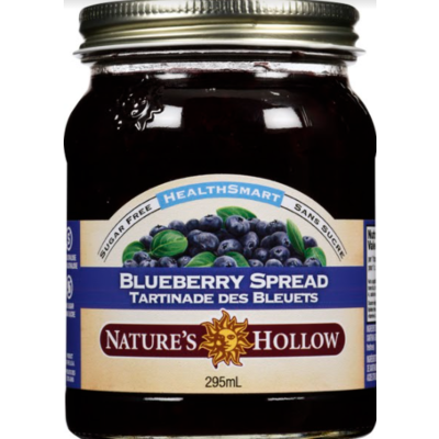 Nature's Hollow Blueberry Sugar-Free Jam Preserves - 10 oz. (280 g)
