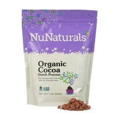 NuNaturals NuNaturals Organic Cocoa Powder, Dutch Process 1lb