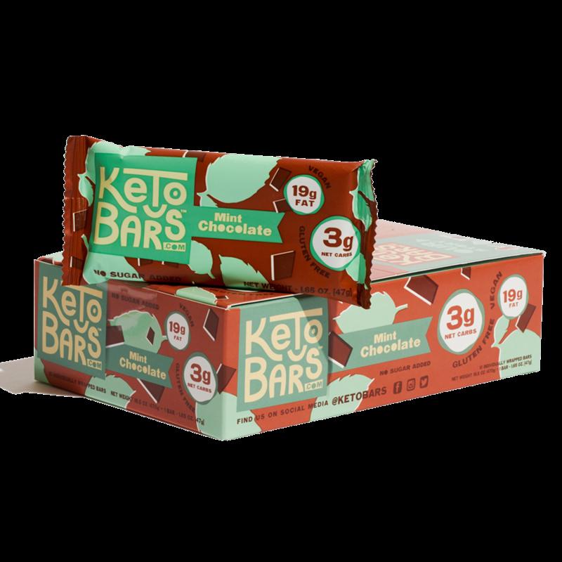Keto Bars Mint Chocolate Keto Bars