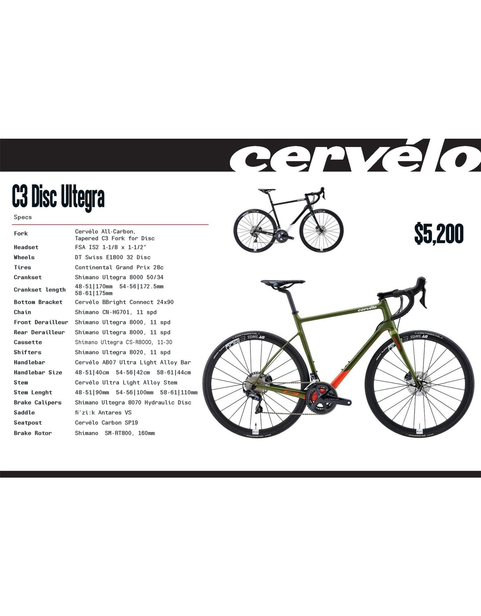 CERVELO 20 C3 RRP $5200 ULTEGRA