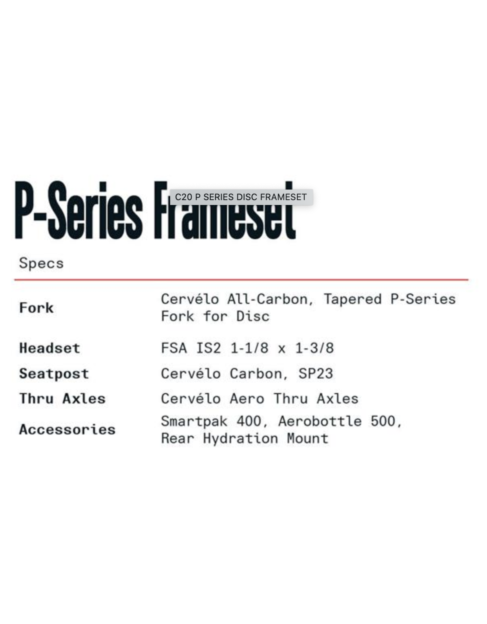 CERVELO 20 51 C P SERIES DISC FRAMESET TEAL/TEAL