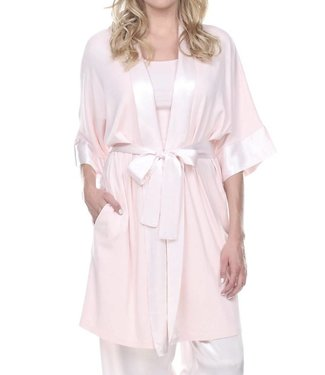 PJ Harlow Shala Satin Trim Robe With Pockets