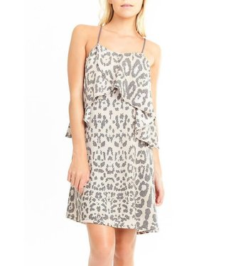 Mary & Mable Mosaic Tile Overlay Dress