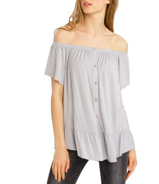 Wishlist Button Up Off the Shoulder Top