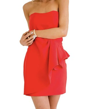 Karlie Strapless Dress with Ruffle