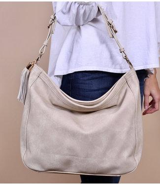 Caroline Hill Halston Hobo Bag with Tassel