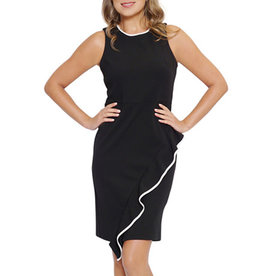 3fc01885 Scapa Black Dress with Ruffle