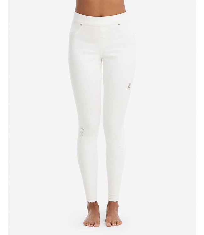 Spanx Distressed Skinny Jeans - White