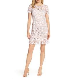 2804b87a Eliza J Open Lace Dress with Cap Sleeve