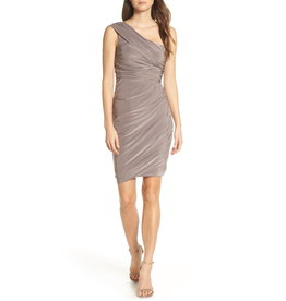f97b5549 Eliza J Ruched One Shoulder Dress