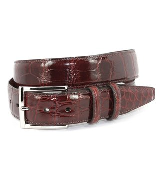 Torino Genuine American Alligator Belt - Cognac, Size 38