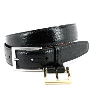 Torino Alligator Grain Embossed Calfskin Belt