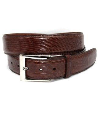 Torino Genuine Lizard Belt - Cognac, Size 42