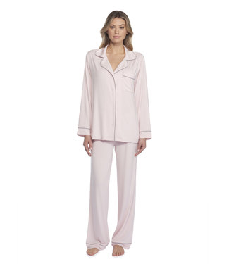 Barefoot Dreams Luxe Milk Jersey Piped PJ Set