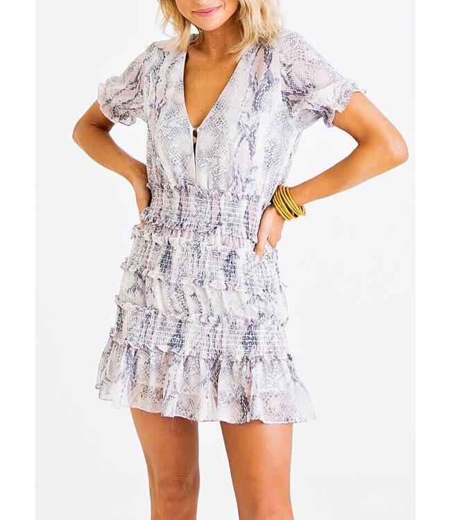 Karlie Chiffon Smock Dress