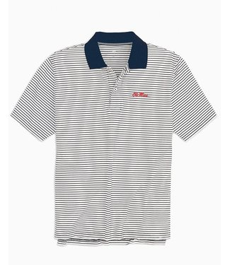 Southern Tide Ole Miss Stripe Pique Polo