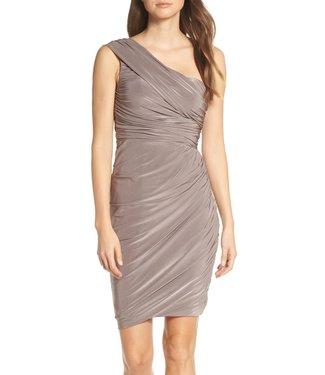 Eliza J Ruched One Shoulder Dress