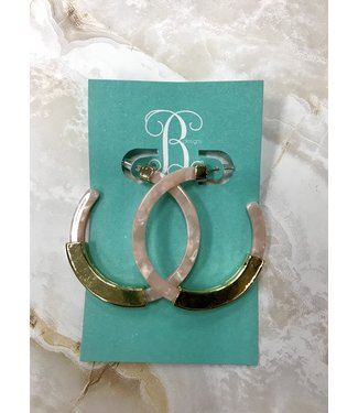 B Designs Pink and Gold Hoops