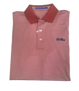 Southern Tide Ole Miss Stripe Polo Shirt