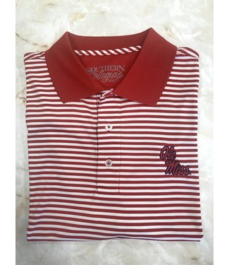 Southern Collegiate Ole Miss Stripe Polo