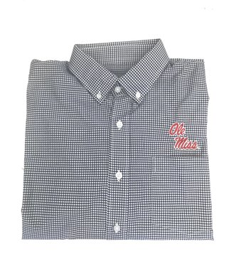 Southern Collegiate Ole Miss Gingham Sport Shirt