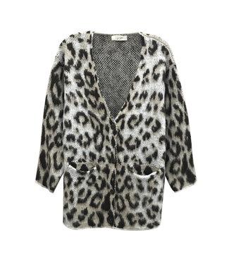 RD Style Beige Leopard Cardigan Sweater