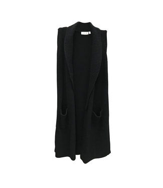 RD Style Black Sweater Vest